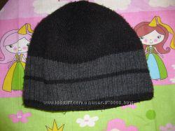 шапка детская зимняя двойная на мальчика 6-10 лет  бу