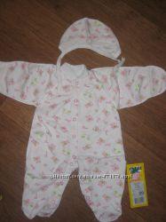 Продам комплект на новорожденную 62-68см, новый