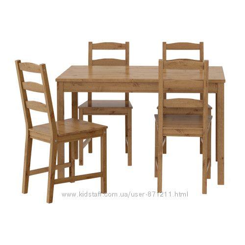 Стол и 4 стула Йокмокк Jokmokk Ikea Икеа 502. 111. 04 В наличии.