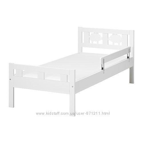 Каркас кровати Белый, КРИТТЕР КРITTER Ikea Икеа 691. 854. 35  В наличии