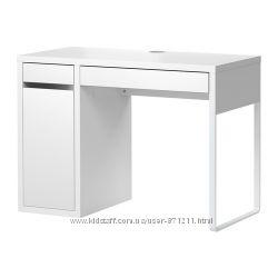 Письменный стол Белый, МИККЕ MICKE Ikea Икеа 802. 130. 74 В наличии.