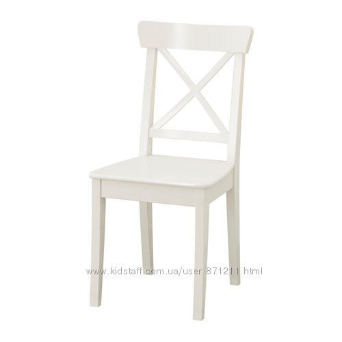 Стул Белый, ИНГОЛЬФ INGOLF Ikea Икеа 701. 032. 50 В наличии