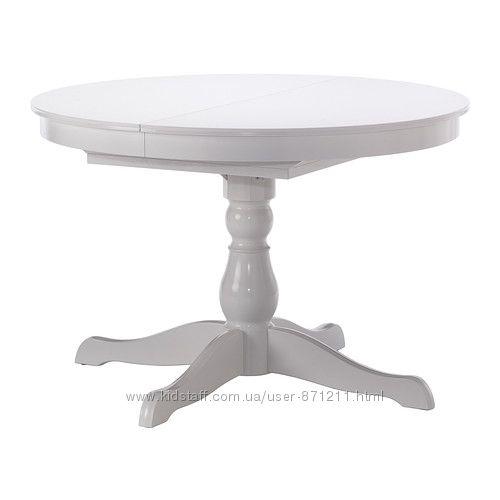 Роздвижной стол Белый, ИНГАТОРП INGATORP Ikea Икеа 402. 170. 69 В наличии