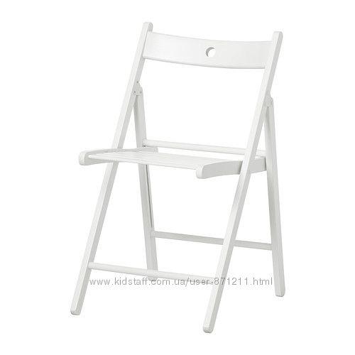 Стул складной Белый ТЕРЬЕ TERJE Ikea Икеа 802. 224. 41 В наличии