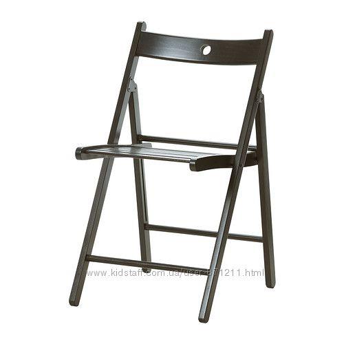 Стул складной Черный, ТЕРЬЕ TERJE Ikea Икеа 002. 224. 40 В наличии