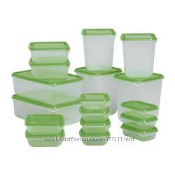 Набор контейнеров PRUTA ПРУТА 17 штук Икеа  IKEA 601. 496. 73 В наличии.