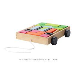 24 кубика с тележкой Мула Mula Ikea Икеа 002. 948. 75 В наличии