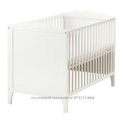 Кроватка детская Белый, Хенсвик Hensvik Ikea Икеа 002. 485. 29 В наличии