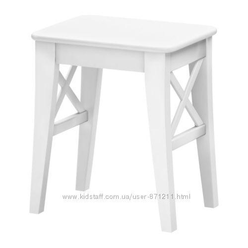 Табурет Белый Ингольф Ingolf Ikea Икеа 001. 522. 82 В наличии