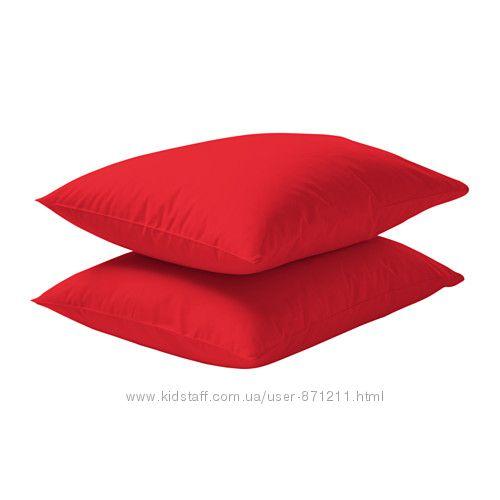 Наволочка 50х60 Красный, Двала Dvala Ikea Икеа 801. 499. 69 В наличии