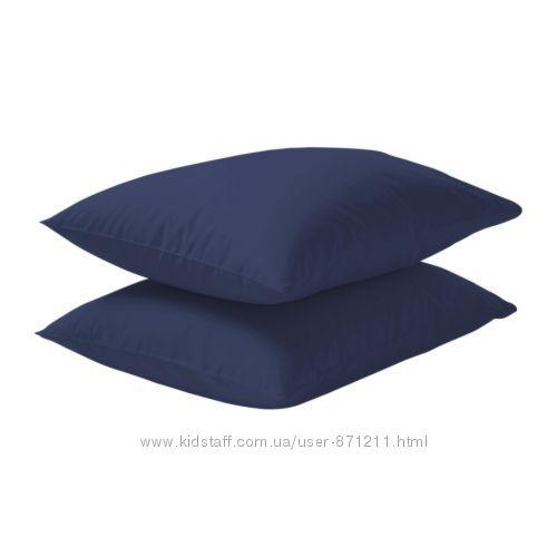Наволочка 50х60 Темно-синий, Двала Dvala Ikea Икеа 001. 500. 04 В наличии