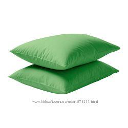 Наволочка 50х60 Зеленый, Двала Dvala Ikea Икеа 602. 964. 85 В наличии