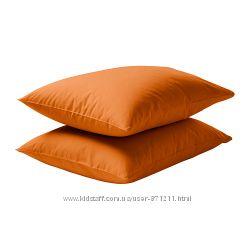 Наволочка 50х60 Оранжевый, Двала Dvala Икеа Ikea 302. 896. 36 В наличии