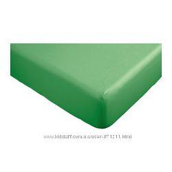 Простыня на резинке 140х200 Двала. Зеленый. Dvala. В наличии Ikea. 80296470