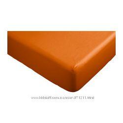 Простыня на резинке 140х200 Двала Оранжевый Dvala В налич Ikea Икеа70289620