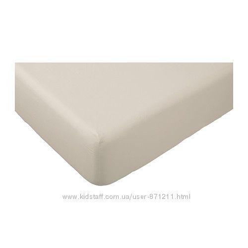 Простыня натяжная 140х200 на резинке Двала IKEA Икеа 601. 500. 39 В наличии