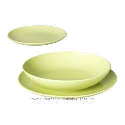 Сервиз 18 предметов Фэргрик. Зеленый. Fargrik. В наличии Ikea Икеа30148788