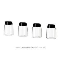 Банки для специй 4 шт стекло 365 Игэрдиг Ikea Икеа 201. 528. 70 В наличии