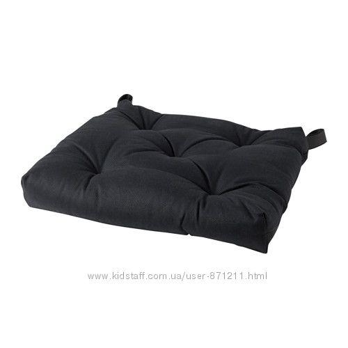 Подушка на стул Черный, Малинда Malinda Ikea Икеа 003. 331. 22 В наличии