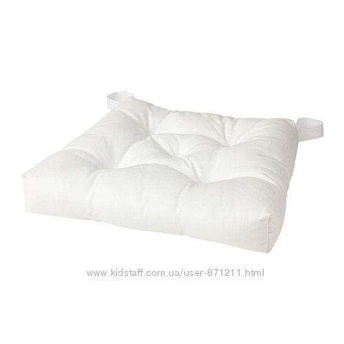 Подушка на стул Белый Малинда Malinda Ikea Икеа 703. 080. 96 В наличии