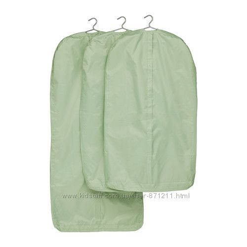Чехол для одежди 3 шт Зеленый, Скубб Skubb Ikea Икеа 502. 997. 19 В наличии