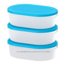Набор контейнеров 3шт, Jamka Йэмка  Икеа IKEA 101. 660. 71 В наличии