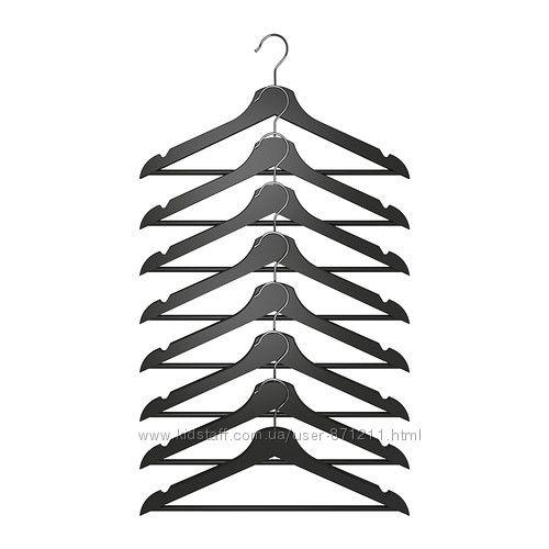 Набор плечиков 8шт Дерево Bumerang Бумеранг Икеа IKEA 202. 385. 34 В наличи