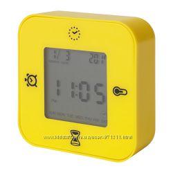 Часы, будильник, желтый Лотторп Lottorp 102. 429. 421 Икеа Ikea В наличии