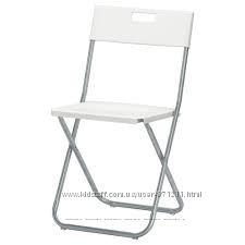 Стул складной, белый Гунде Gunde 602. 177. 99  Икеа Ikea В наличии