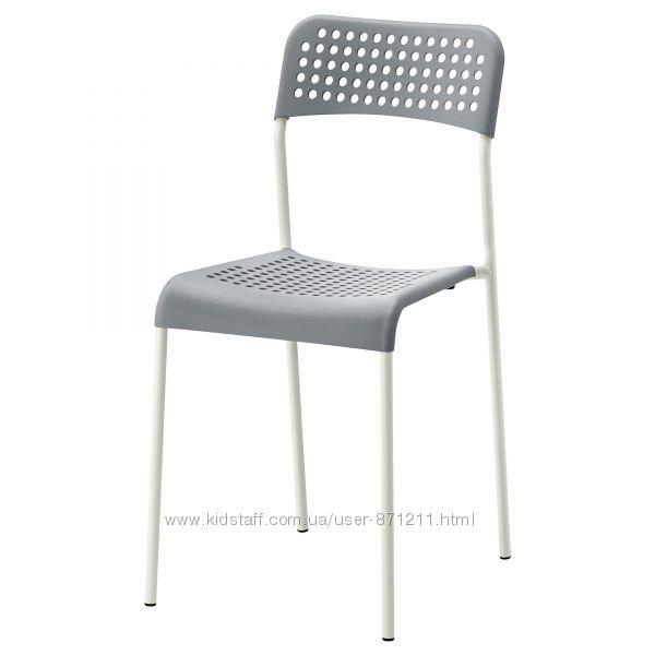 Стул, серый, белый Икеа Адде, 102. 259. 28 Adde Ikea В наличии