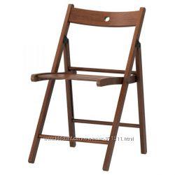 Стул складной, коричневый 602. 224. 42 Терье Terje Ikea Икеа В наличии