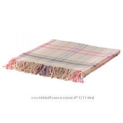Плед, бежевый, розовый,  Икеа Гермине, 402. 121. 61 Hermine Ikea В наличии