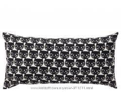 Подушка, белый, черный, 503. 200. 23 Маттрам Mattram Ikea Икеа В наличии