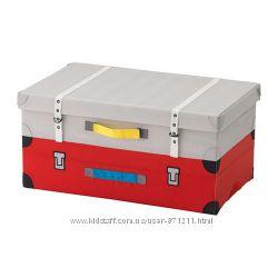 Чемодан для игрушек, красный,  Икеа Флюттбар, 303. 288. 31 Flyttbar В наличии