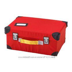 Чемодан для игрушек, красный,  Икеа Флюттбар, 703. 288. 53 Flyttbar В налич