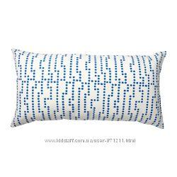 Подушка, белыйсиний, 30x60см Авсиктлиг, 403. 458. 11 Икеа Ikea В наличии