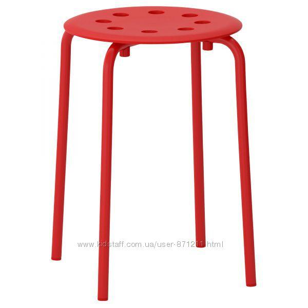 Табурет, красный Мариус, Marius 002. 461. 96 Икеа Ikea В наличии
