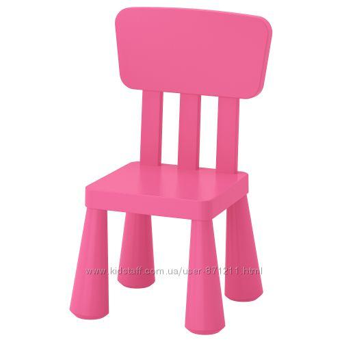 Детский стул, для домаулицы, розовый Mammut Маммут Ikea Икеа 803. 823. 21 В