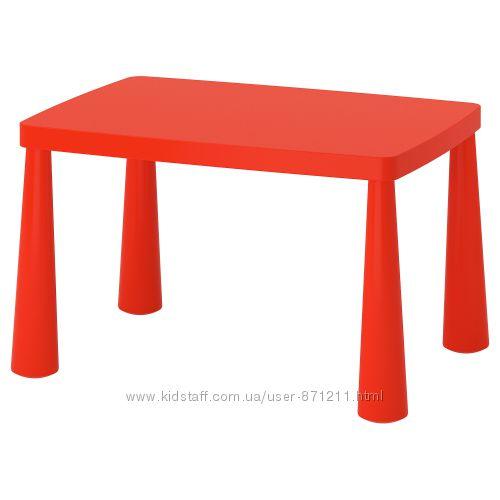Стол детский, красный, 77x55 см Mammut Маммут Икеа IKEA 603. 651. 67