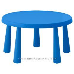 Детский стол круглый, Mammut Маммут Икеа IKEA 903. 651. 80 В наличии