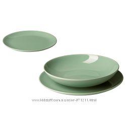 Сервиз, 18 предметов, керамика Fargrik Фэргрик Икеа IKEA 703. 920. 14 В нал