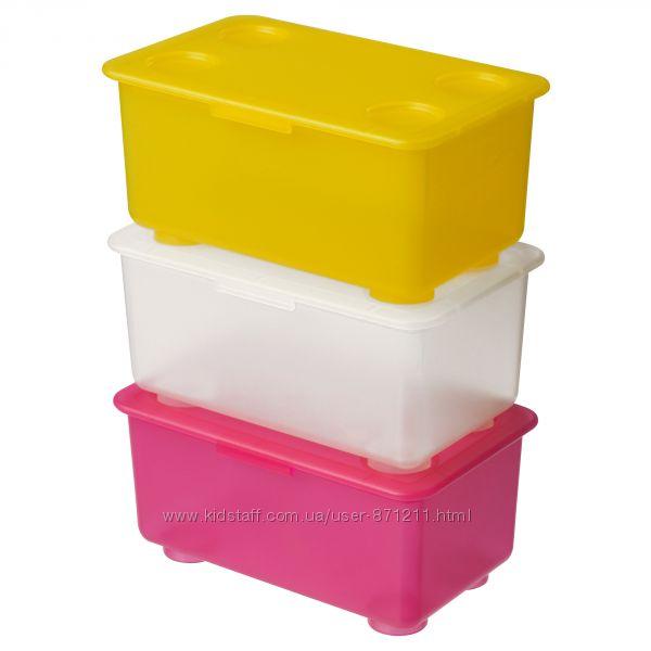 Коробка с крышкой, для детский мелочей Глис Glis Икеа IKEA 200. 474. 50