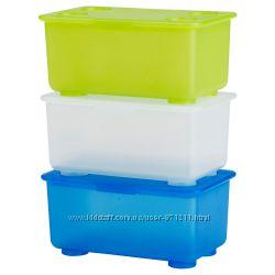 Коробка с крышкой, для детский мелочей Глис Glis Икеа IKEA 800. 985. 83