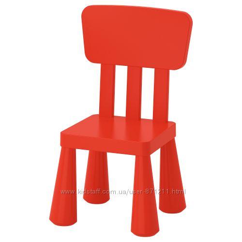 Детский стул, для домаулицы, красный Mammut Маммут Икеа IKEA 403. 653. 66