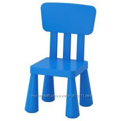 Детский стул, для домаулицы, синий Mammut Маммут Икеа IKEA 603. 653. 46