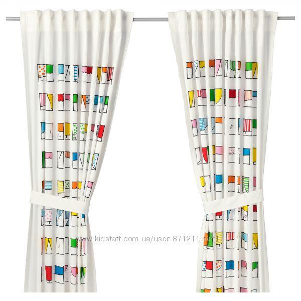 Гардины с прихватом, разноцветный Hemmahos, Хеммахос Икеа IKEA 803. 323. 50