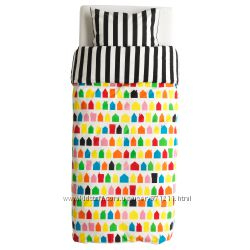 Комплект постельного белья, разноцветный Heml&aumln Хемлэнгтан Икеа 703. 32
