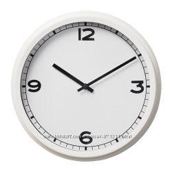 Часы настенные, белые, круглые, 25 см Pugg Икеа IKEA 203. 578. 81 В наличии
