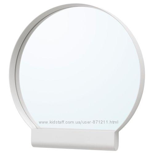 Зеркало в ванную, белое, 45x46 см, Ypperlig Икеа IKEA 703. 461. 02 В наличи