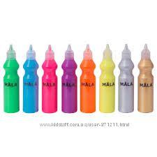 Флуоресцентные краски, 8 шт. , Mala Икеа IKEA 702. 662. 99 В наличии